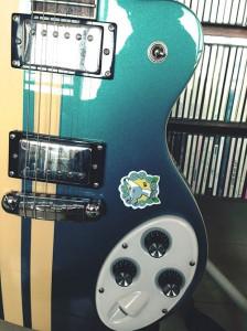 ギターとシール