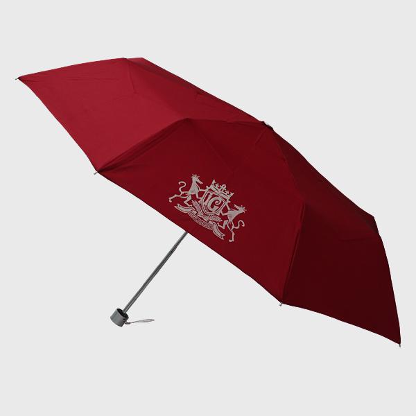 しっぽ舗オリジナル折りたたみ傘ワンポイントエンブレム